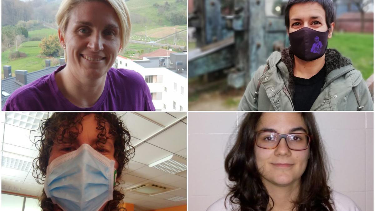 Ana, Marta, Aitziber y Leire