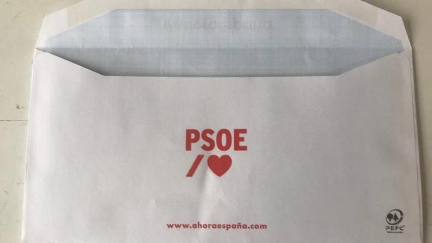 """Sobre electoral del PSOE con el dominio """"ahoraespaña.com"""""""