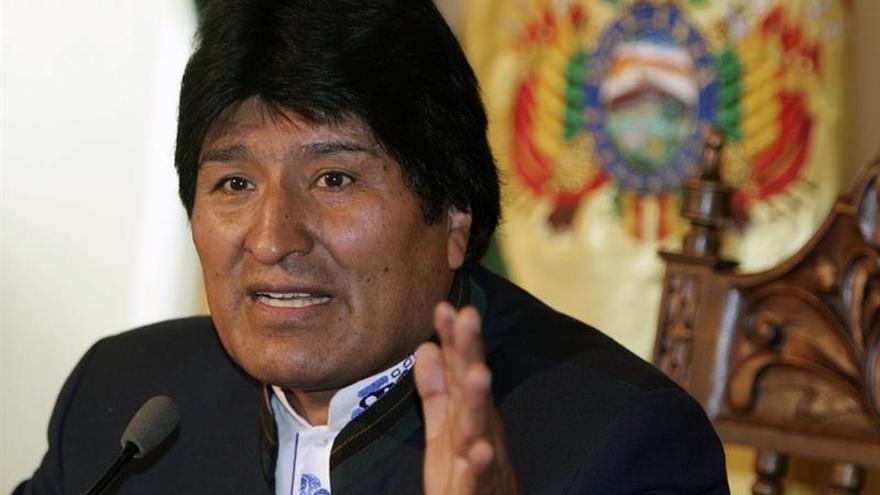 """Evo Morales llama """"Caín"""" a Chile y critica sus ejercicios navales con EE.UU."""