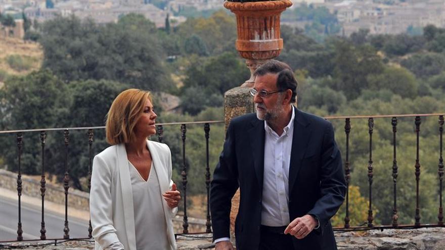 María Dolores de Cospedal y Mariano Rajoy en Toledo / Foto: PP