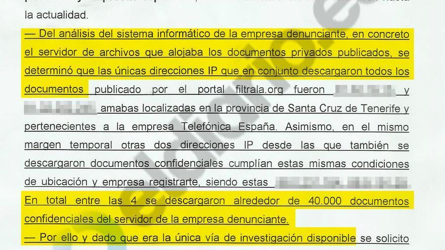 Diligencias de la detención del supuesto filtrador de Los Papeles de la Castellana