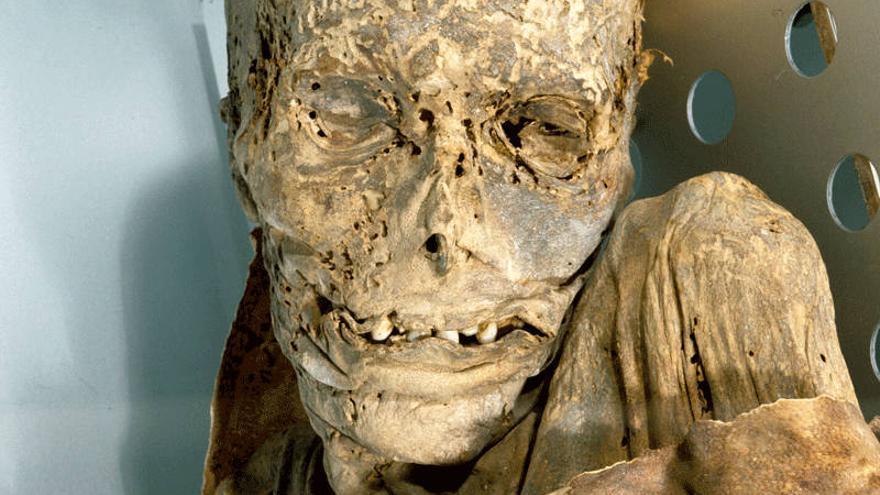 Momia del Museo de la Naturaleza y el Hombre de Tenerife. Webtenerife