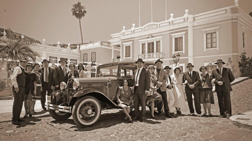 Imagen de archivo de una anterior recreación histórica en las calles de Mazo.
