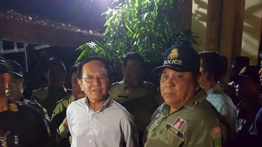 HRW pide la liberación del líder opositor camboyano acusado de traición