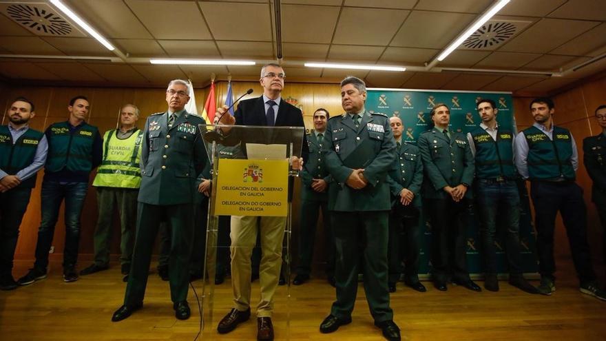 Rueda de prensa en la delegación del Gobierno en A Coruña sobre el caso Diana Quer