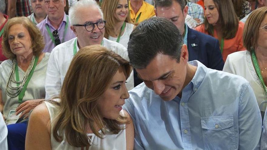 Sánchez y Díaz llegan juntos al acto de clausura del Congreso del PSOE-A