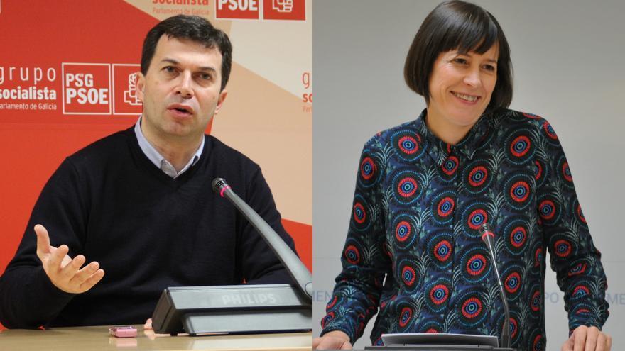 Gonzalo Caballero (PSdeG) y Ana Pontón (BNG)