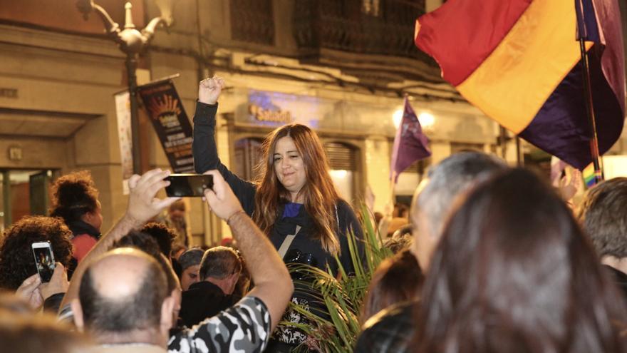 Concentración feminista en Las Palmas de Gran Canaria. (Alejandro Ramos).