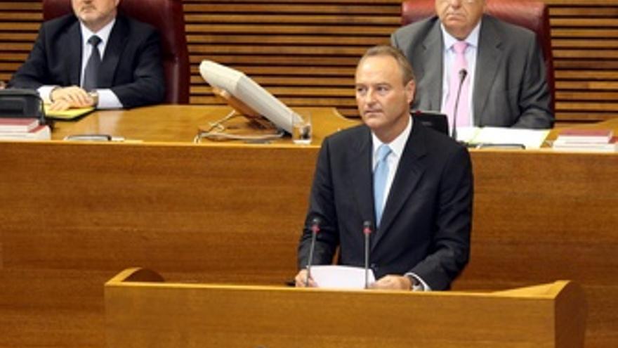Alberto Fabra en el Parlament