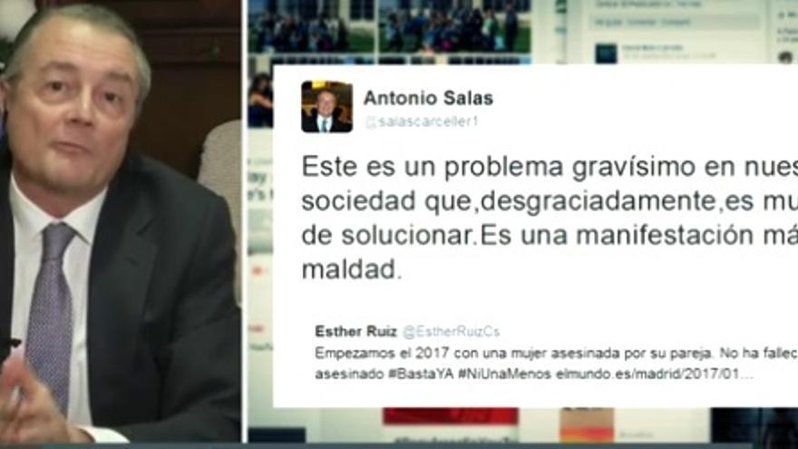Antonio Salas, magistrado de la Sala de lo Civil del TS / Captura de La Sexta.