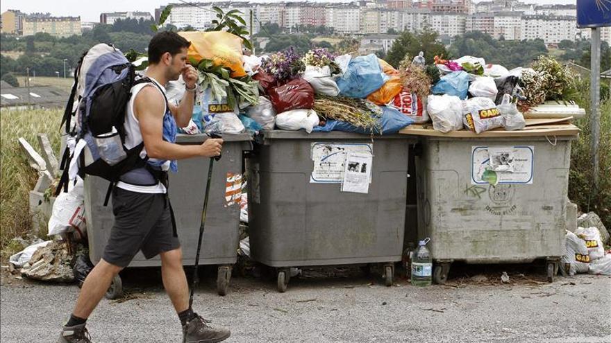 El servicio de basuras de Lugo gestionado por Urbaser estuvo dos meses de huelga.
