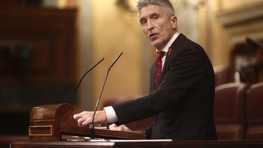 El ministro del Interior, Fernando Grande-Marlaska, interviene en el Congreso