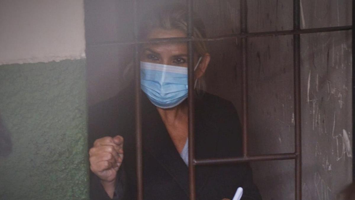 Añez está bajo prisión preventiva desde su detención, el 13 de marzo de este año, en Beni.