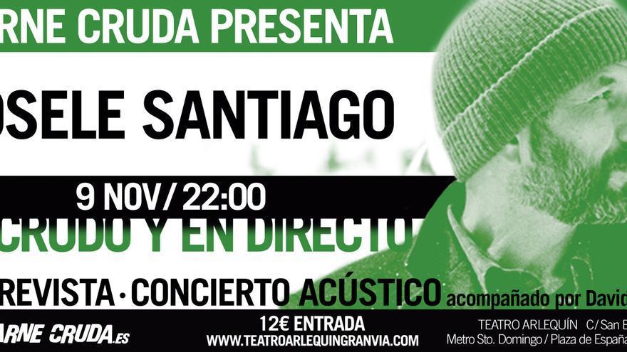 Josele Santiago en concierto con Carne Cruda