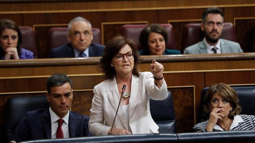 Calvo exige al PP que se ponga detrás del Gobierno en Cataluña como hizo el PSOE