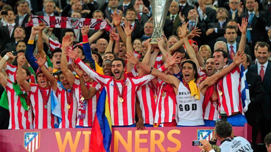 El Atlético gana la final de la Europa League más vista de la década ante 8 millones y un 45% de share