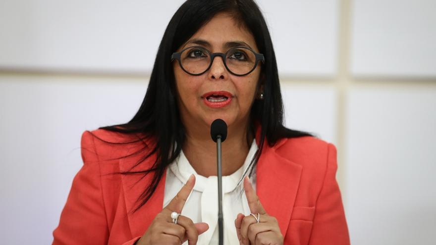 En la imagen, la vicepresidenta de Venezuela, Delcy Rodríguez.