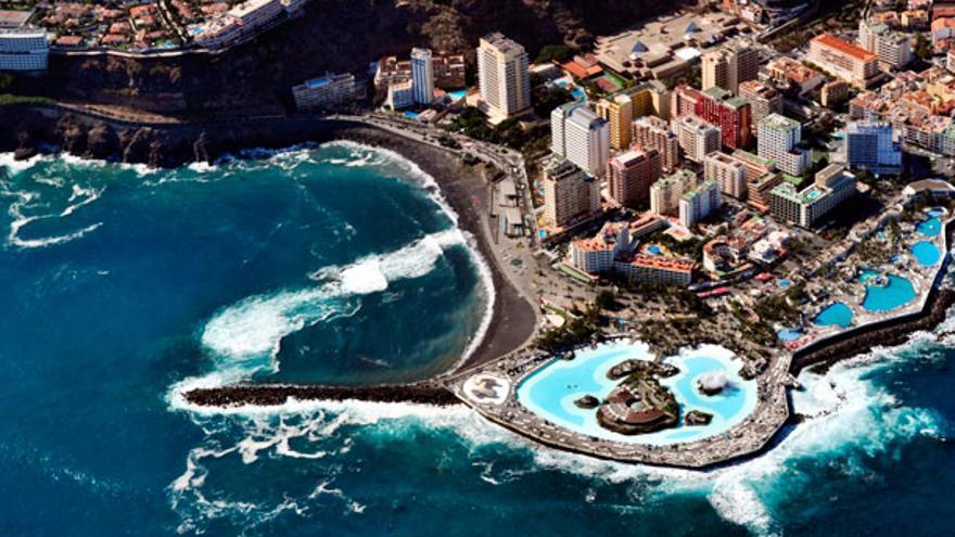 Vista aérea de Puerto de la Cruz