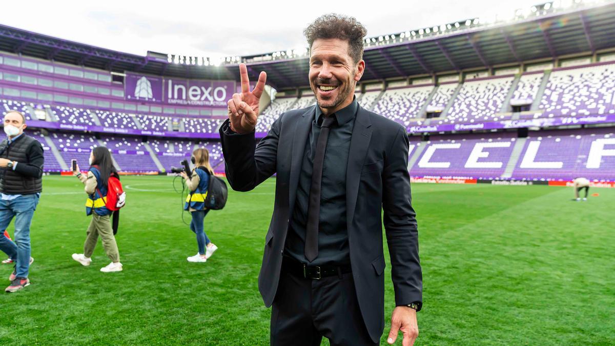 Simeone festejó su segundo título de Liga como entrenador del Atlético de Madrid