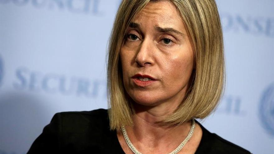 Mogherini: Recortes en cooperación de EE.UU. tendrán un efecto desestabilizador
