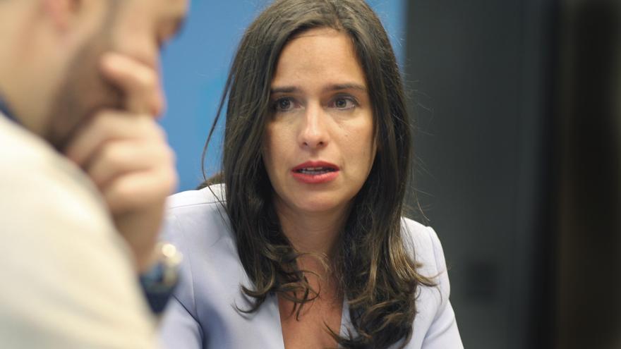 Belén Hoyo durante la entrevista