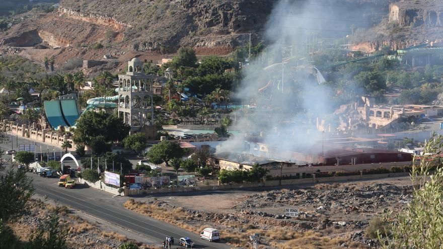 Incendio en Maspalomas.