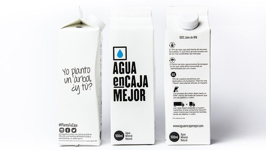 Agua enCaja Mejor, el primer agua embotellada en envase de cartón, desembarca en España