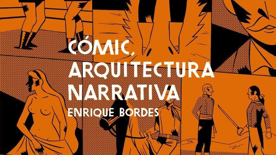 Portada de 'Cómic, arquitectura narrativa' de Enrique Bordes dibujada por Carla Berrocal