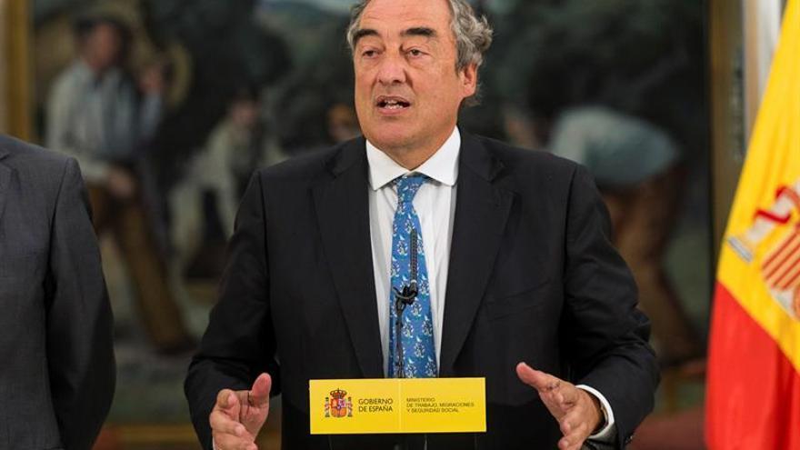 Juan Rosell, presidente de la CEOE, en una imagen de archivo.