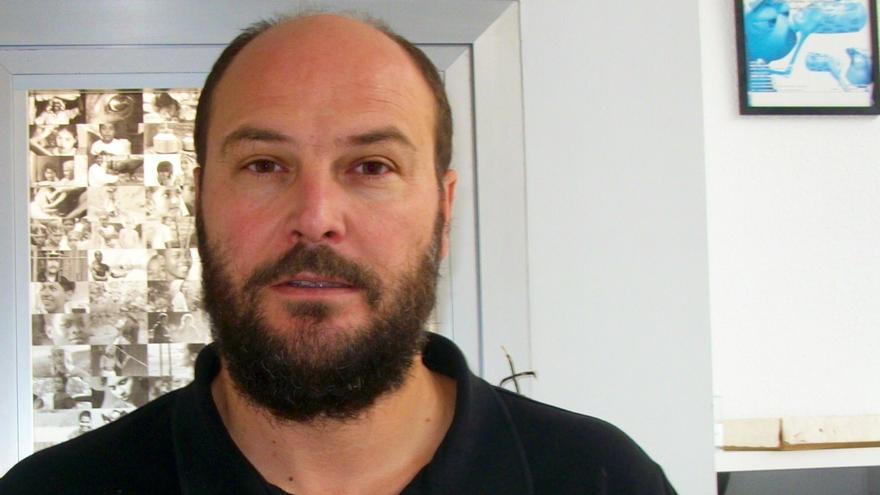 El responsable de Intermón Oxfam en Navarra, Enrique Abad.