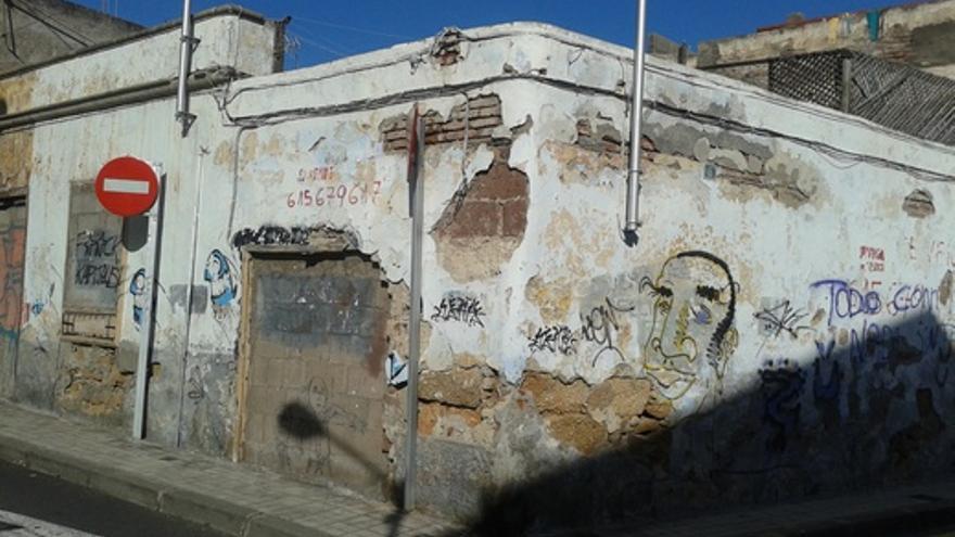 Estado de una de las viviendas del popular barrio capitalino.