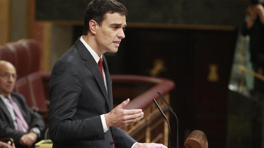 """Sánchez ve """"decepcionante"""" la comparecencia de Rajoy y le insta a convocar a Mas y al PSOE para buscar una salida"""