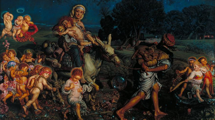 "William Holman Hunt, ""El triunfo de los Inocentes"" (1883-84)."