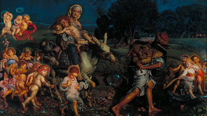 """William Holman Hunt, """"El triunfo de los Inocentes"""" (1883-84)."""