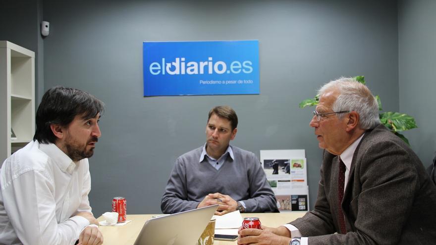 Ignacio Escolar, Manuel de la Rocha Vázquez y Josep Borrell