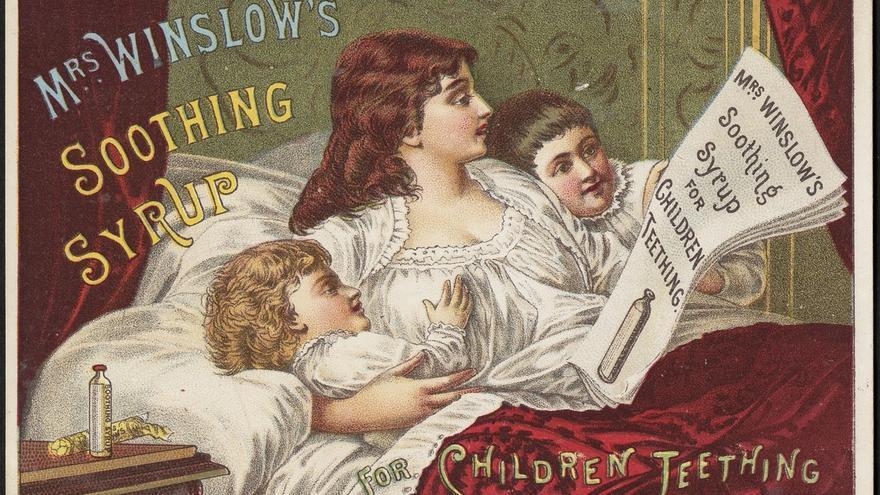 El jarabe infantil de Mrs Winslow, a base de morfina y alcohol.