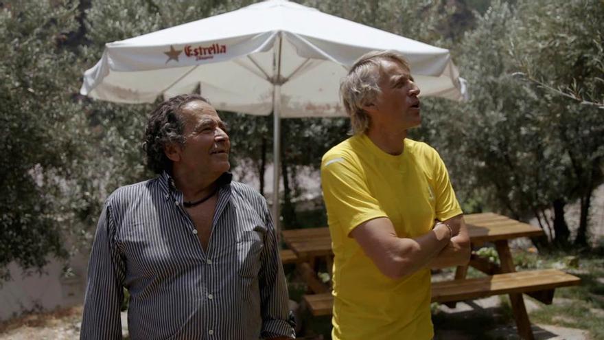 Carlos Di Palma y Jesús Calleja, en 'Volando voy'