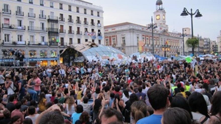 Acampada de indignados en Sol. (EUROPA PRESS)