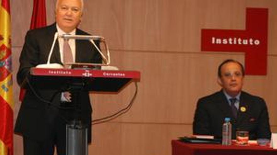 Moratinos con su homólogo marroquí. (ACN PRESS)