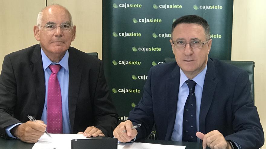 José Luis García-Estrada y Fernando Berge, en la firma del convenio de colaboración