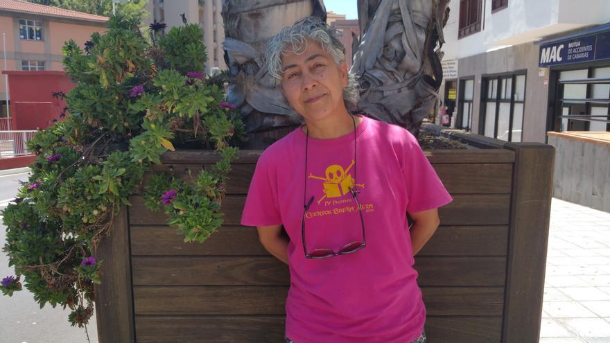 Carmen Conesa trabaja en el Ayuntamiento de Breña Alta desde 1992. Foto: LUZ RODRÍGUEZ.