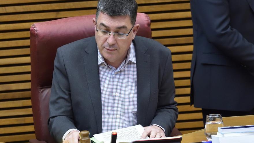 El presidente de las Corts, Enric Morera, en el parlamento autonómico