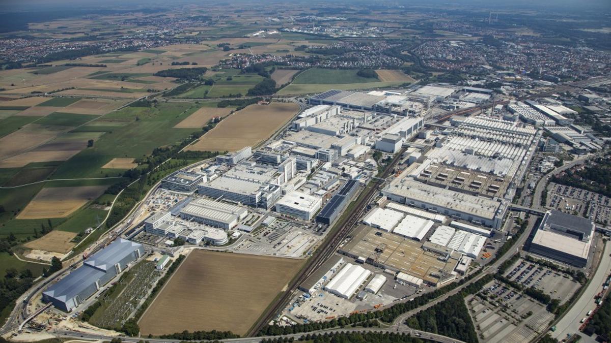 Vista aérea del centro de producción de Audi en su sede Ingolstadt.