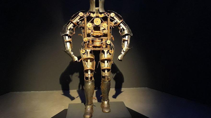 'Caballero mecánico' (1495) de Leonardo da Vinci