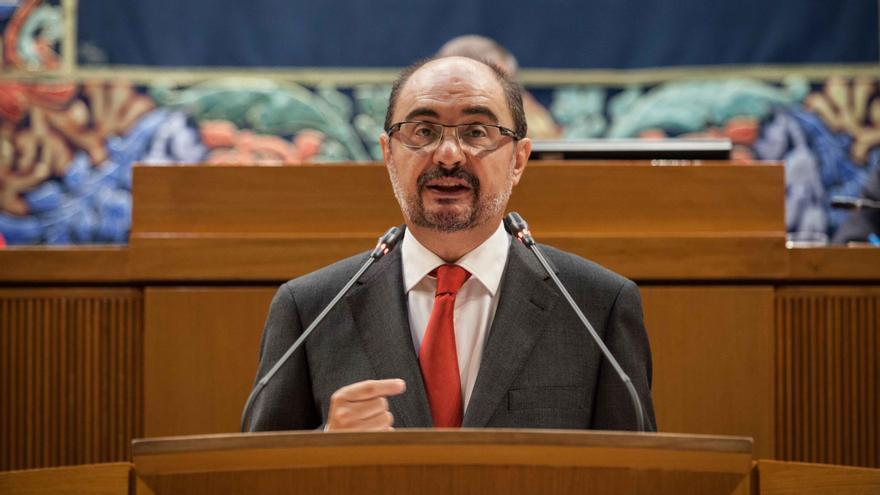 Lambán en su debate de investidura. Foto: Juan Manzanara