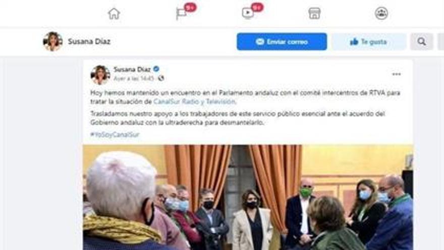 """El PSOE andaluz denuncia ante la Policía Nacional la """"amenaza de muerte"""" contra Susana Díaz en una red social"""