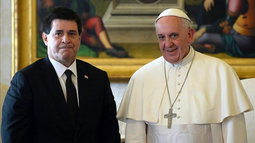 El papa Francisco se reunió durante 25 minutos con el presidente paraguayo