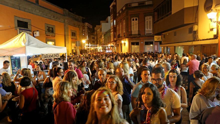 Imagen de archivo de la celebración de un fin de año veraniego en Vegueta.
