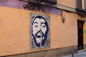 Obra de Frágil en la calle La Palma | Foto: A.P