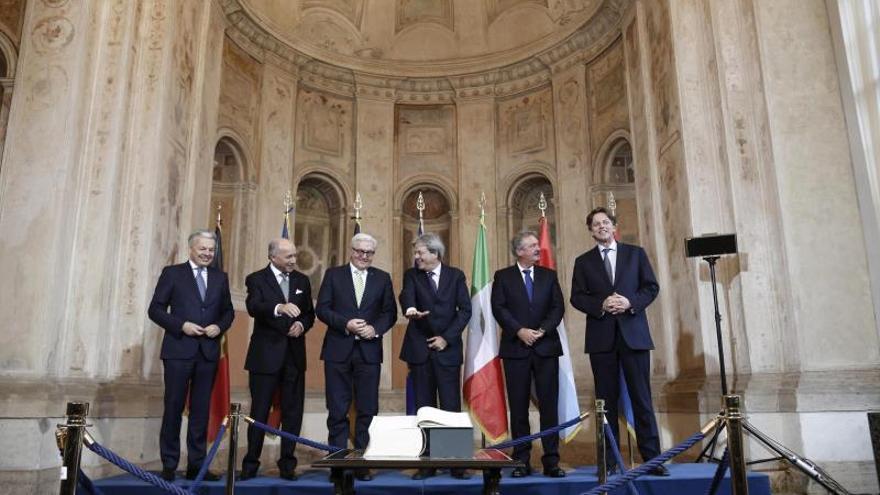 Roma reúne a fundadores de la UE para analizar su futuro sin tomar decisiones